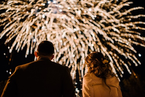 What are Pyromusical Wedding Fireworks?
